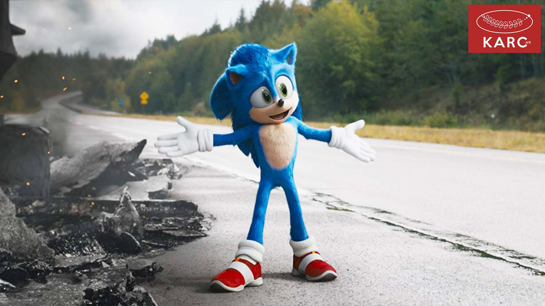 Sonic the Hedgehog นี้ บอกเล่าเรื่องของ Sonic ซึ่งเขาเป็นสิ่งมีชีวิตในต่างดาว คล้ายเม่นบนโลกของเรา - Karc.us